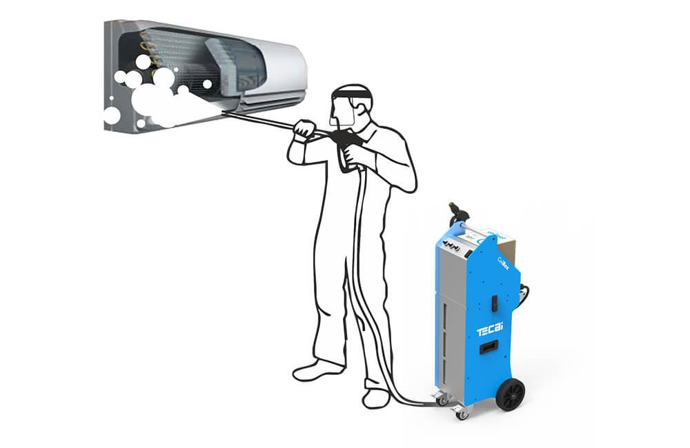 Equipo limpieza serpentines climatización